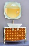 洗手间室的家具 免版税库存照片