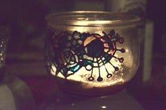 手画异教的玻璃Nighlight 免版税库存照片