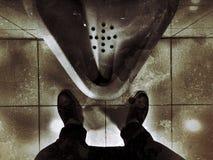 洗手间是肮脏的在洗手间 免版税库存图片