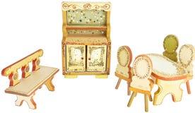 手画木厨房家具 库存照片