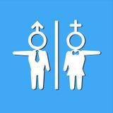 洗手间标志的传染媒介例证 库存照片