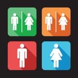 洗手间标志 库存照片