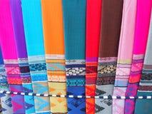 手织的棉布 免版税库存照片