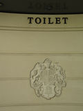 洗手间的皇家冠 免版税库存照片