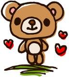 手画逗人喜爱的熊 免版税图库摄影