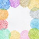 手绘画颜色铅笔框架 免版税库存照片