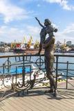 水手` s妻子的纪念碑在Odesa,乌克兰 库存照片