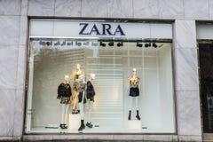 扎拉商店在柏林,德国 库存图片