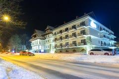扎科帕内建筑学在冬天,波兰 库存图片