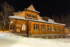 扎科帕内木建筑学在冬天 库存图片