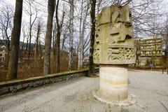 扎科帕内,对山救助者的纪念碑 免版税库存图片