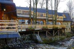 扎科帕内,著名餐馆木大厦  免版税库存照片
