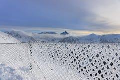 扎科帕内Kasprowy Wierch上面Tatra山的在冬天 库存照片