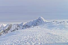 扎科帕内Kasprowy Wierch峰顶Tatra山的在冬天 图库摄影