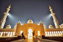 扎耶德回教族长清真寺在阿布扎比,阿联酋,中东 库存照片