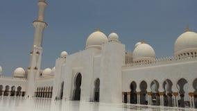 扎耶德清真寺阿布格莱布Dhabi回教族长外部 库存照片