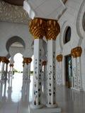 扎耶德清真寺阿布格莱布Dhabi Corridor回教族长 库存照片