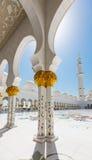 扎耶德2014年10月2日的Grand Mosque回教族长在阿布扎比 免版税库存照片