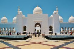 扎耶德・本・苏尔坦・阿勒纳哈扬回教族长清真寺在阿布扎比 库存图片