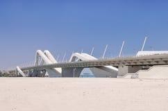 扎耶德Bridge阿布扎比回教族长 免版税库存图片