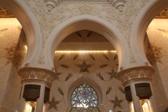 扎耶德Grand里面Mosque回教族长 免版税库存图片