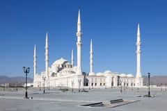 扎耶德Grand Mosque回教族长在富查伊拉 免版税库存图片