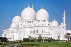 扎耶德Grand Mosque回教族长在阿布扎比,阿联酋 免版税库存图片