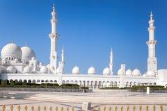 扎耶德Grand Mosque回教族长在阿布扎比,阿联酋 免版税库存照片