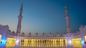 扎耶德Grand Mosque回教族长在阿布扎比,阿联酋 库存照片