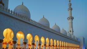 扎耶德Grand Mosque回教族长在阿布扎比,阿联酋 库存图片