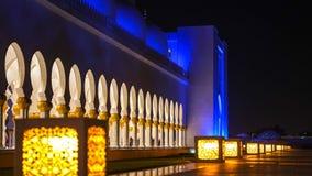 扎耶德Grand Mosque回教族长在阿布扎比,阿联酋 图库摄影