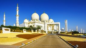 扎耶德Grand Mosque回教族长在阿布扎比13 图库摄影