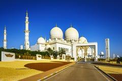扎耶德Grand Mosque回教族长在阿布扎比14 库存照片