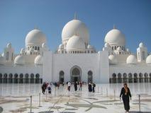 扎耶德Grand Mosque回教族长在阿布扎比 免版税库存照片