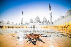 扎耶德Grand Mosque回教族长 图库摄影