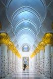 扎耶德Grand Mosque阿布扎比回教族长段落  库存图片