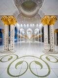 扎耶德Grand Mosque阿布扎比回教族长段落  免版税库存照片