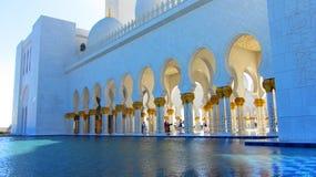 扎耶德Grand Mosque,阿布扎比回教族长 免版税库存图片