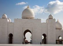 扎耶德Mosque回教族长在阿布扎比 库存照片