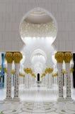 扎耶德Mosque回教族长在阿布格莱布Dhab 免版税库存图片