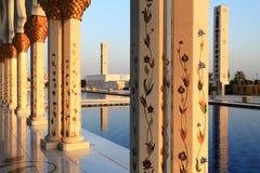 扎耶德Mosque回教族长外部  库存照片