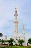 扎耶德Mosque回教族长2013年6月5日的在阿布扎比 免版税图库摄影