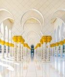 扎耶德Mosque,阿布扎比,阿联酋回教族长 免版税库存图片
