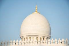 扎耶德Mosque,阿拉伯联合酋长国回教族长圆顶  免版税库存照片