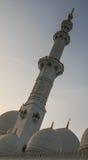 扎耶德Mosque,阿拉伯联合酋长国回教族长 免版税库存照片