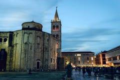 扎达尔论坛和教会区域 免版税库存图片