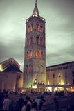 扎达尔论坛和教会区域 库存图片