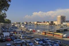 扎达尔,克罗地亚旧港口  库存图片