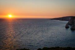 扎金索斯州暑假在海岛上的一个假日生动描述启发 免版税库存照片