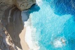 扎金索斯州暑假在海岛上的一个假日生动描述启发 免版税图库摄影